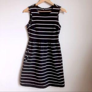 Lands End cotton knit, sleeveless, striped dress